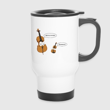 Personified Cello says to personified Violin - Travel Mug