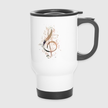 Treble clef notes music instrument gift - Travel Mug