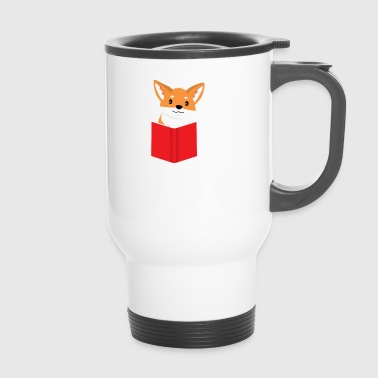Book Fox - Fox - Introvert - Book - Gift - Travel Mug