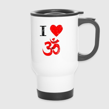 Yoga Retro India Buddha Gift Meditation Sport - Travel Mug