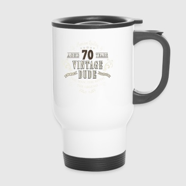 70th Birthday Vintage T-Shirt Gift - Travel Mug
