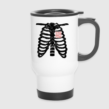 Heart skeleton heart love weapon weapons cod was pain - Travel Mug