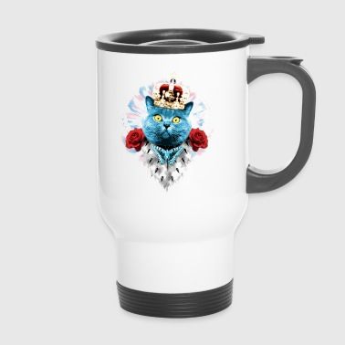 Blue Cat the King blue Butterfly - Cat cat - Travel Mug