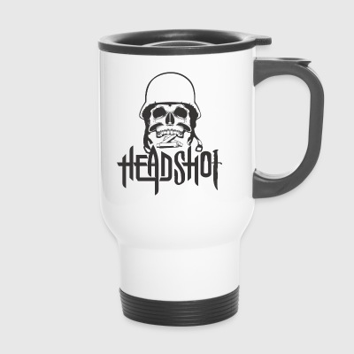 Cráneo / HEADSHOT / ROCK N ROLL T-SHIRT - Taza termo