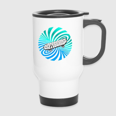 Skate illusion skateboard skater optical Art lol - Travel Mug