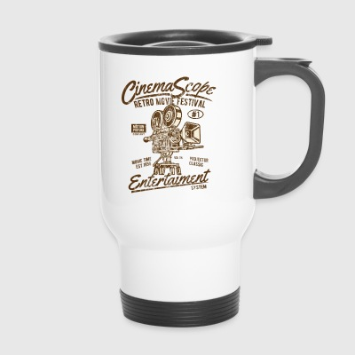 CINEMASCOPE - Cinema and Camera Shirt Motif - Travel Mug