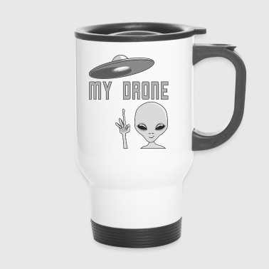 Conception drôle Alien shirt UFO et de drones - Mug thermos