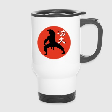red kungfu fighter - Mug thermos