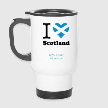 expatfood - I heart Scotland - Travel Mug