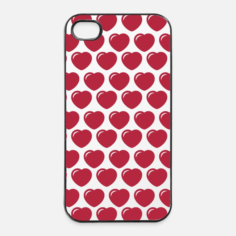 Mother's Day iPhone Cases - heart - iPhone 4 & 4s Case white/black