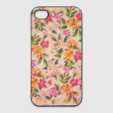 Vintage Glitched Pastel Flowers - Phone Case - Coque rigide iPhone 4/4s