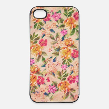 Tyylikäs Vintage Glitched Pastel Flowers - Phone Case - iPhone 4/4s kovakotelo