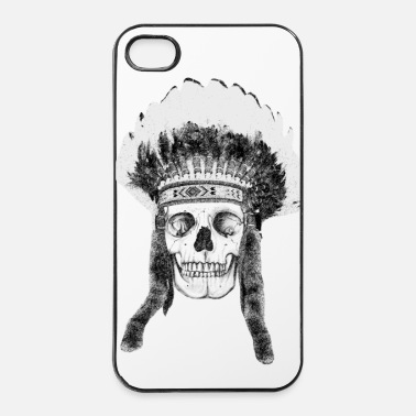 Illustratie skull indian headdress - schedel - iPhone 4/4s hard case
