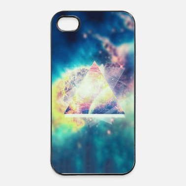 Rectangle Geometrie Space Kunst (Hipster Green) - Handycase - Coque rigide iPhone 4/4s