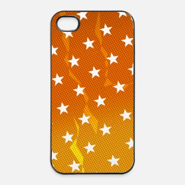 Mobil Mobile Phone Pattern - Amber - iPhone 4 & 4s Hülle