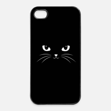 Big Gullig svart katt Face With Big Eyes / Phone Case - Hårt iPhone 4/4s-skal