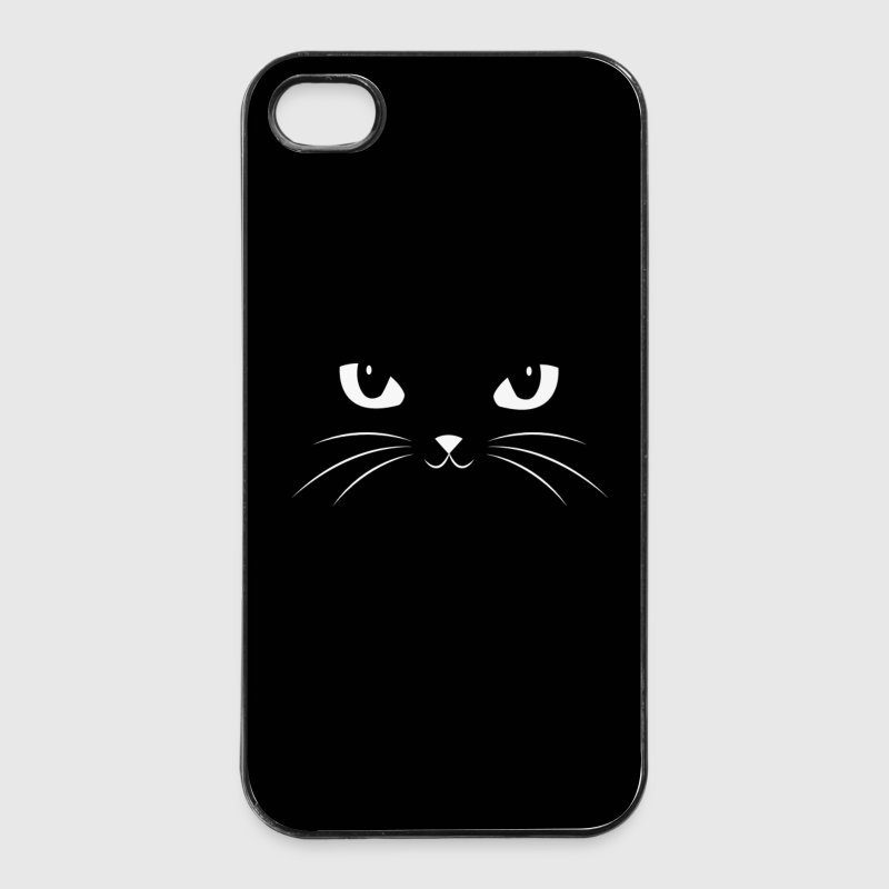 Leuke Zwarte Kat - Face With Big Eyes / Phone Case - iPhone 4/4s hard case