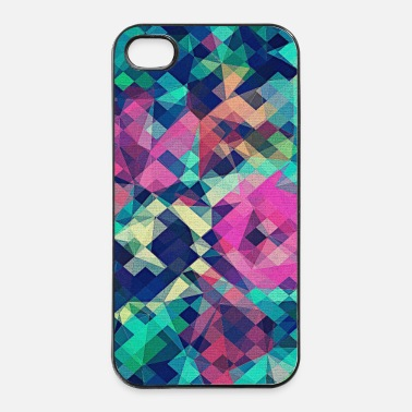 Splatter Abstract Rose (värikäs Pattern) Art - Phone Case - iPhone 4/4s kovakotelo