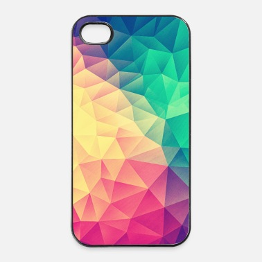 Neliö  Abstract Triangles / Geometry Color - Phone Case - iPhone 4/4s kovakotelo