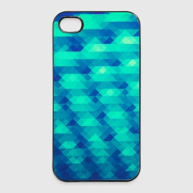 Triangle pattern geometry - (HDR green) design - iPhone 4/4s Hard Case