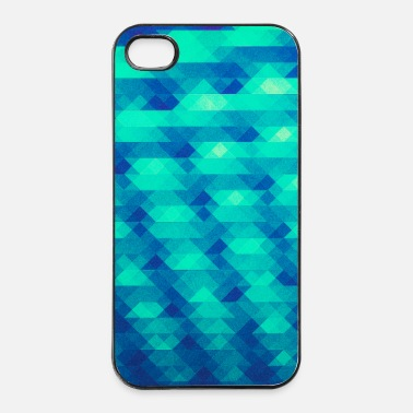 Papa Triangle pattern geometry - (HDR green) design - Coque iPhone 4 & 4s