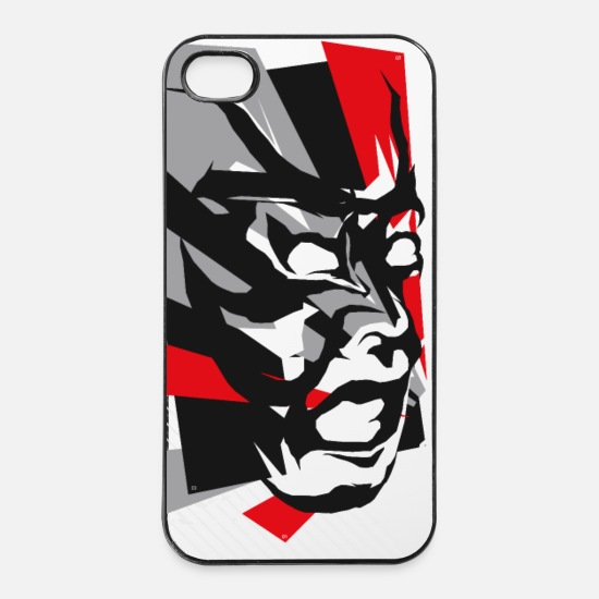 Design iPhone covers - Kabuki - iPhone 4 & 4s cover hvid/sort