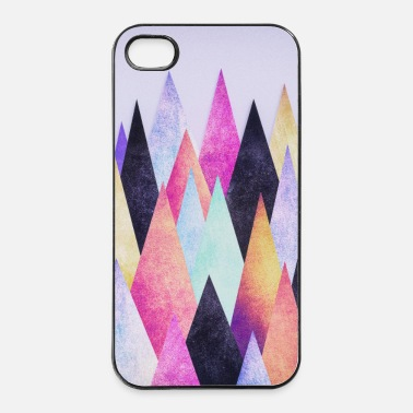 Hipster triangles (geometry) Abstract Mountains  - Custodia rigida per iPhone 4/4s