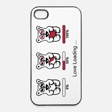 Silhouette ours d'amoureux- silhouette - Love loading Tee shirts - Coque rigide iPhone 4/4s