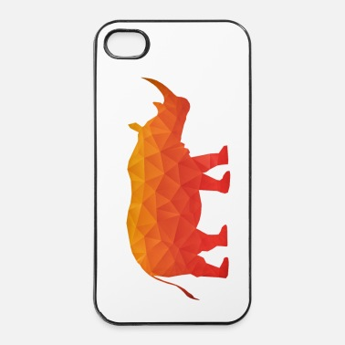 Afrika Retro Driehoek Origami Neushoorn / Rhino  - iPhone 4/4s hard case