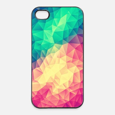 Vierkant Low Poly Triangles / Geometry Color - Phone Case - iPhone 4/4s hard case