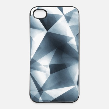 Argento Abstract triangle / geometry (silver) - Phone Case - Custodia rigida per iPhone 4/4s