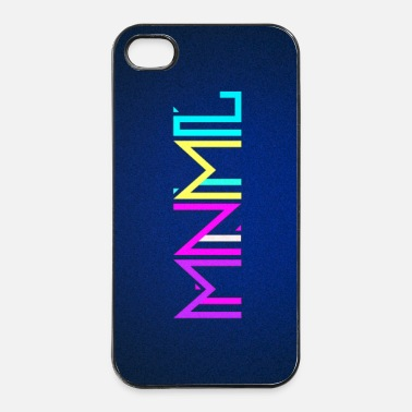 Electro Minimal Type (Colorful) typography - phone cover - Hårt iPhone 4/4s-skal