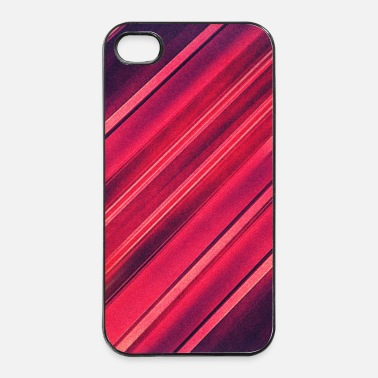 Strip Abstract minimal texture (red/black) - Phone case - iPhone 4/4s hard case