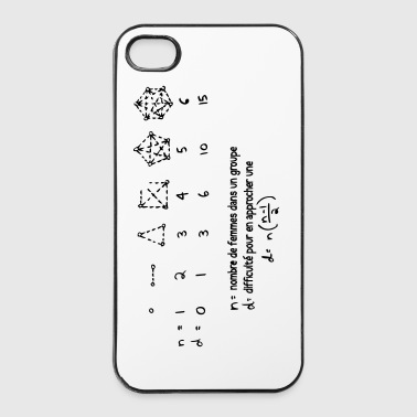 Coque I Phone 4/4S Humour maths - Coque rigide iPhone 4/4s