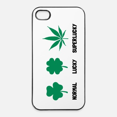 Mode Cannabis / Chanvre / Shamrock - mode Super Lucky  - Coque rigide iPhone 4/4s