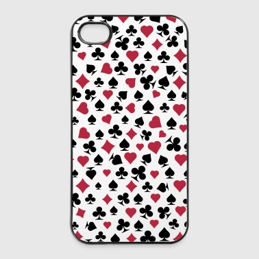poker decorazione - Custodia rigida per iPhone 4/4s