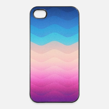 Popolare Pride Rainbow Wave (Colorful Geometric) Phone Case - Custodia rigida per iPhone 4/4s