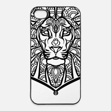 Style Henna lion - iPhone 4/4s kovakotelo