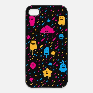 Monstre Cute Color Fun - Mobile Phone Case - Coque rigide iPhone 4/4s