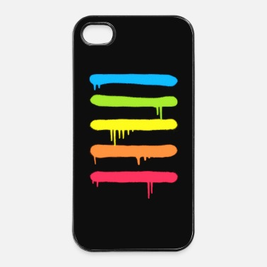 Trend Trendy Cool Graffiti Tag Lines - Telefoon hoesjes - iPhone 4/4s hard case