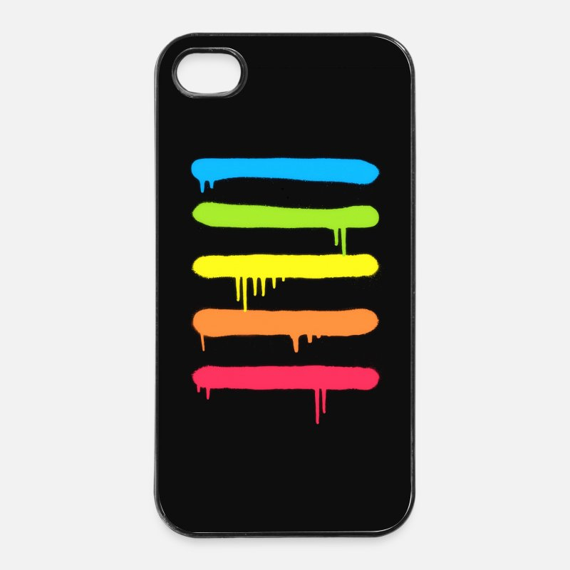 Art iPhone Cases - Trendy Cool Graffiti Tag Lines - Phone Cases - iPhone 4 & 4s Case white/black