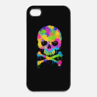 Abstrakt Trendy & Cool Abstract Graffiti Skull - Phone Case - Hårt iPhone 4/4s-skal