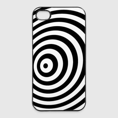 Minimum Geometry Illusion in Black & White(OP-Art) - iPhone 4/4s Hard Case
