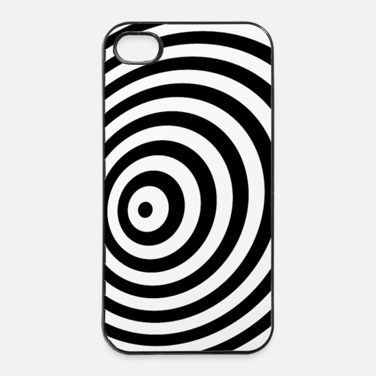 Halloween iPhone Cases - Minimum Geometry Illusion in Black & White(OP-Art) - iPhone 4 & 4s Case white/black