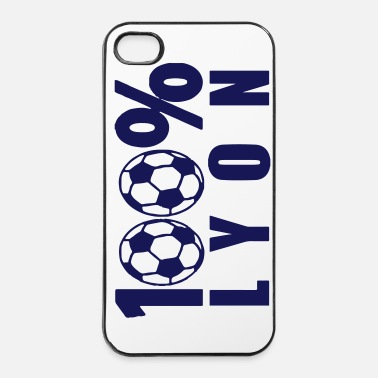 Ballon De Foot 100% Lyon football 69 - Coque rigide iPhone 4/4s