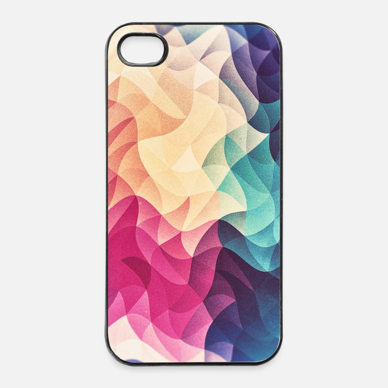 Christmas iPhone Cases - Abstract low poly color pattern design (spectrum) - iPhone 4 & 4s Case white/black