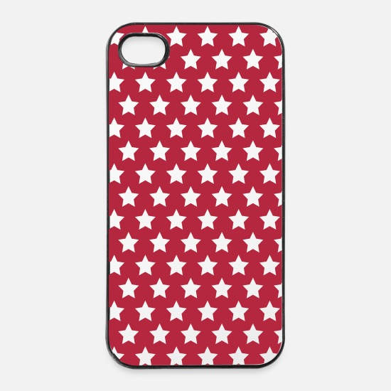 Bestsellers Q4 2018 iPhone Cases - stars - iPhone 4 & 4s Case white/black