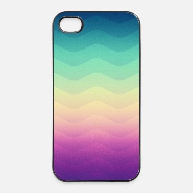 Style Géométrie Waves minimales (Rainbow) - Phone Case   - Coque rigide iPhone 4/4s