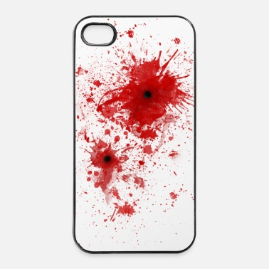 Open Schizzi di sangue / ferita da proiettile - Costume - Custodia rigida per iPhone 4/4s