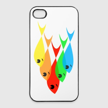 Fischteam bunt - iPhone 4/4s Hard Case